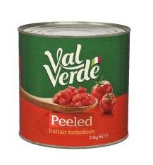 Val Verde Tomato Peeled Diced 2.5kg